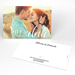 Save-the-date mariage Un grand jour