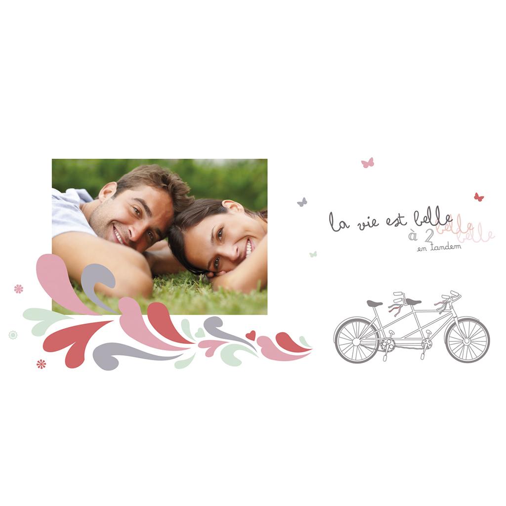 Carte anniversaire de mariage Tandem  pas cher