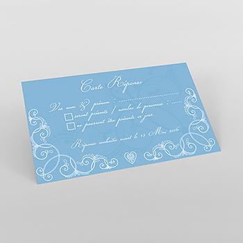 Carton réponse mariage Céleste