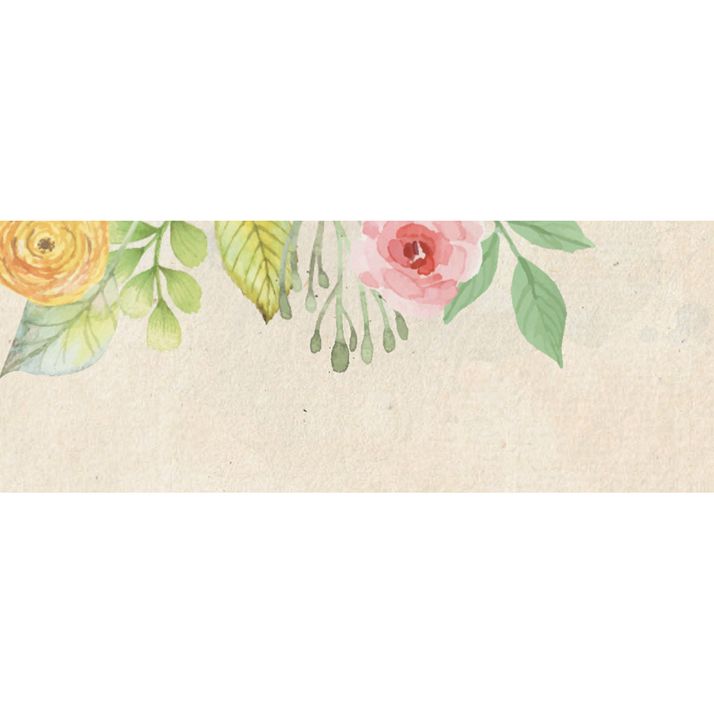Marque-place mariage Fleurs Vintage pas cher