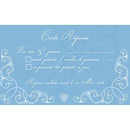 Carton réponse mariage Céleste  pas cher