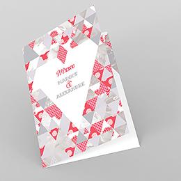 Menu mariage Origami gris rose