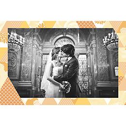 Carte de remerciement mariage Origami jaune gratuit
