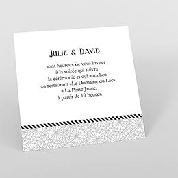 Carte d'invitation mariage Wedding mr et mme