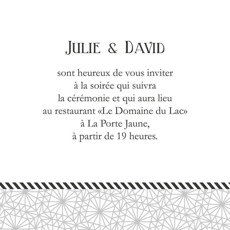 Carte d'invitation mariage Wedding mr et mme pas cher