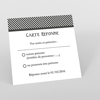 Carton réponse mariage Wedding 2 mr