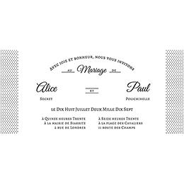 Faire-part de mariage Letter Press blanc pas cher
