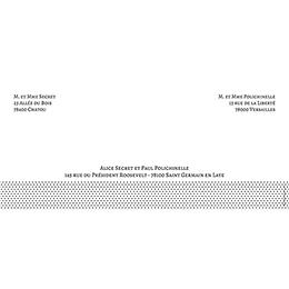 Faire-part de mariage Letter Press blanc gratuit
