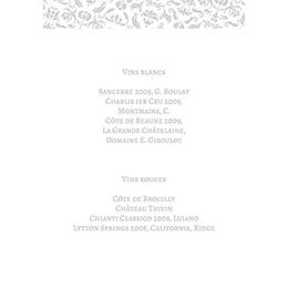 Menu mariage Letter Press gris gratuit