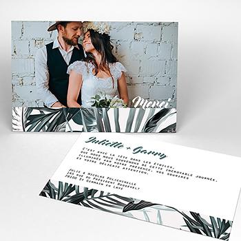 Carte de remerciement mariage Exotic Chic