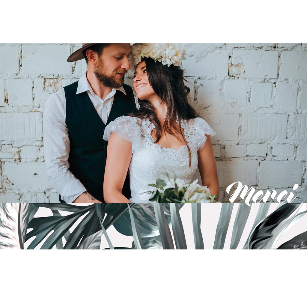 Carte de remerciement mariage Exotic Chic pas cher
