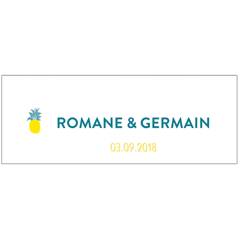 Marque-place mariage Love Summer pas cher
