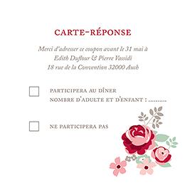Carton réponse mariage Rose Chic pas cher