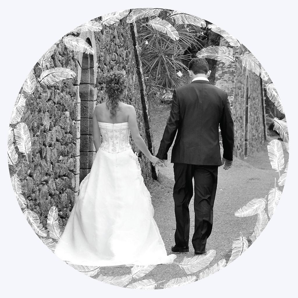 Carte de remerciement mariage Plume pas cher