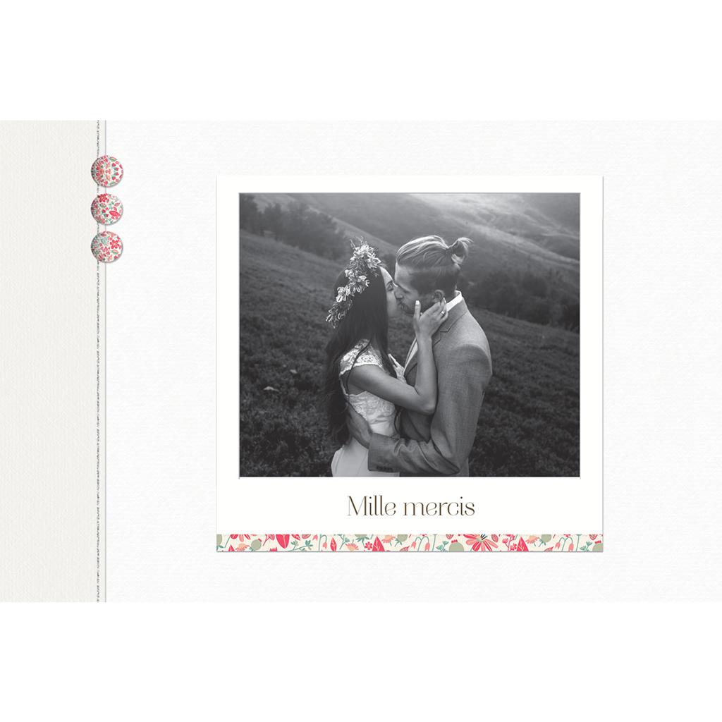 Carte de remerciement mariage Pureté gratuit