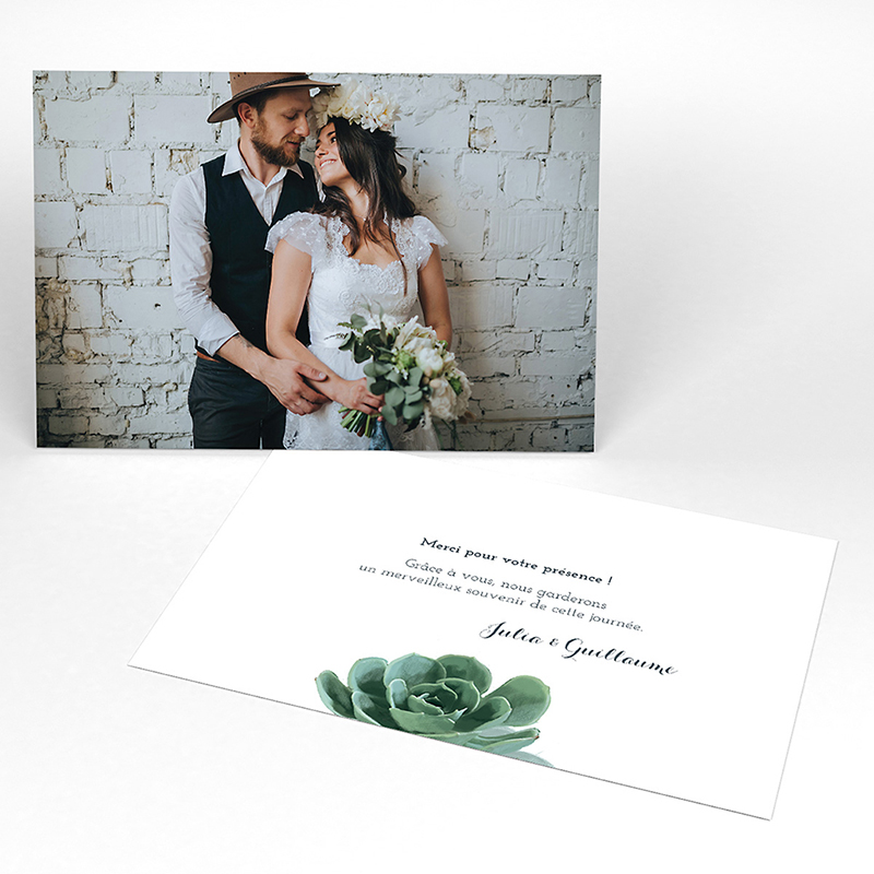 Carte de remerciement mariage Arizona