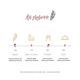 Faire-part de mariage Fleur de cactus gratuit