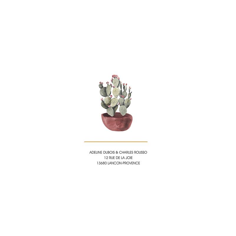 Faire-part de mariage Fleur de cactus