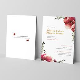 Faire-part de mariage Rouge champêtre