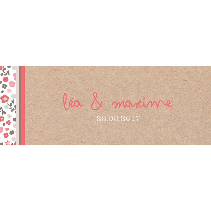 Marque-place mariage Liberty  pas cher