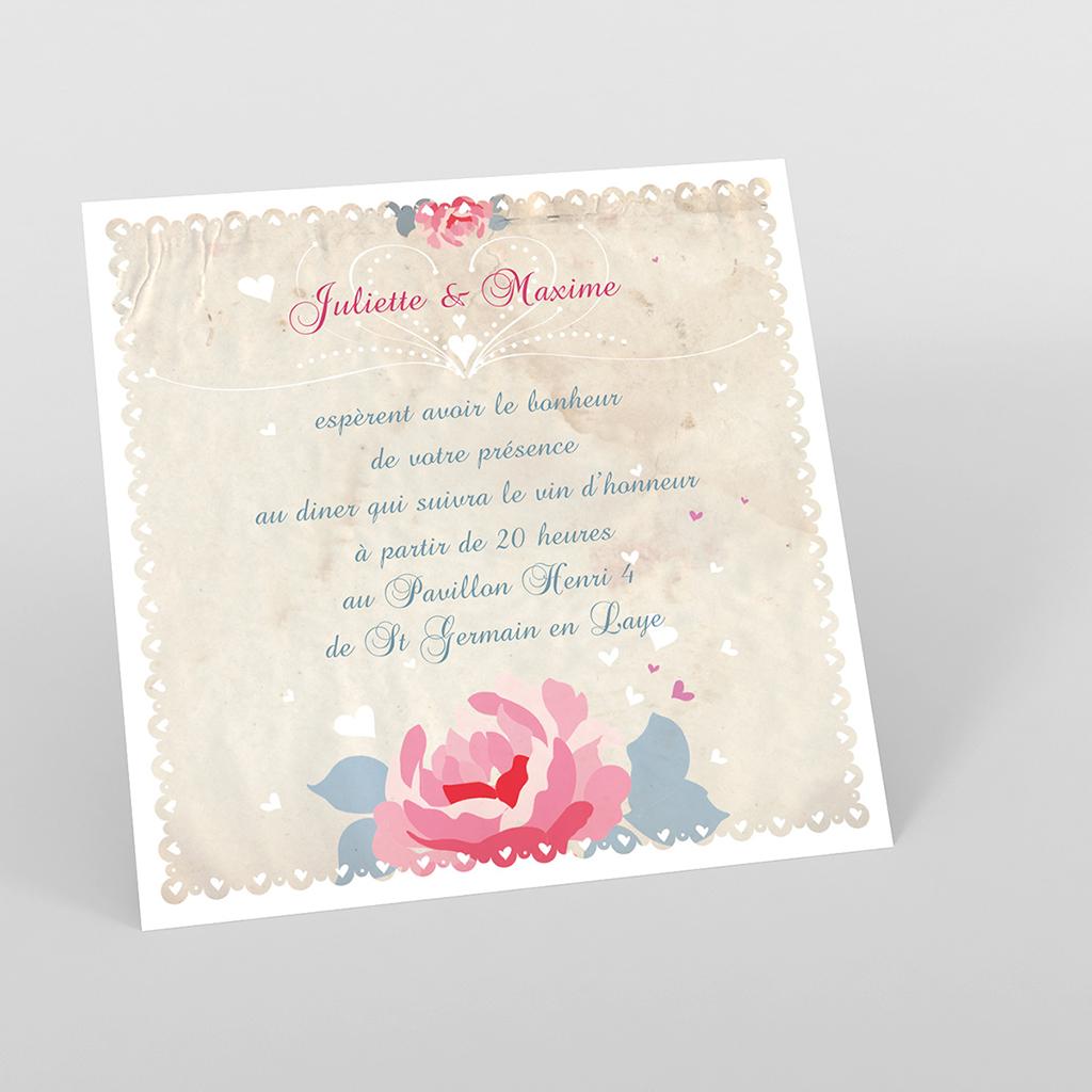 Carte d'invitation mariage Nostalgie
