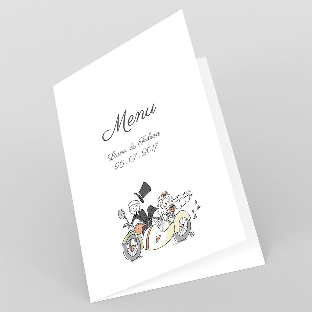 Menu mariage Sidecar