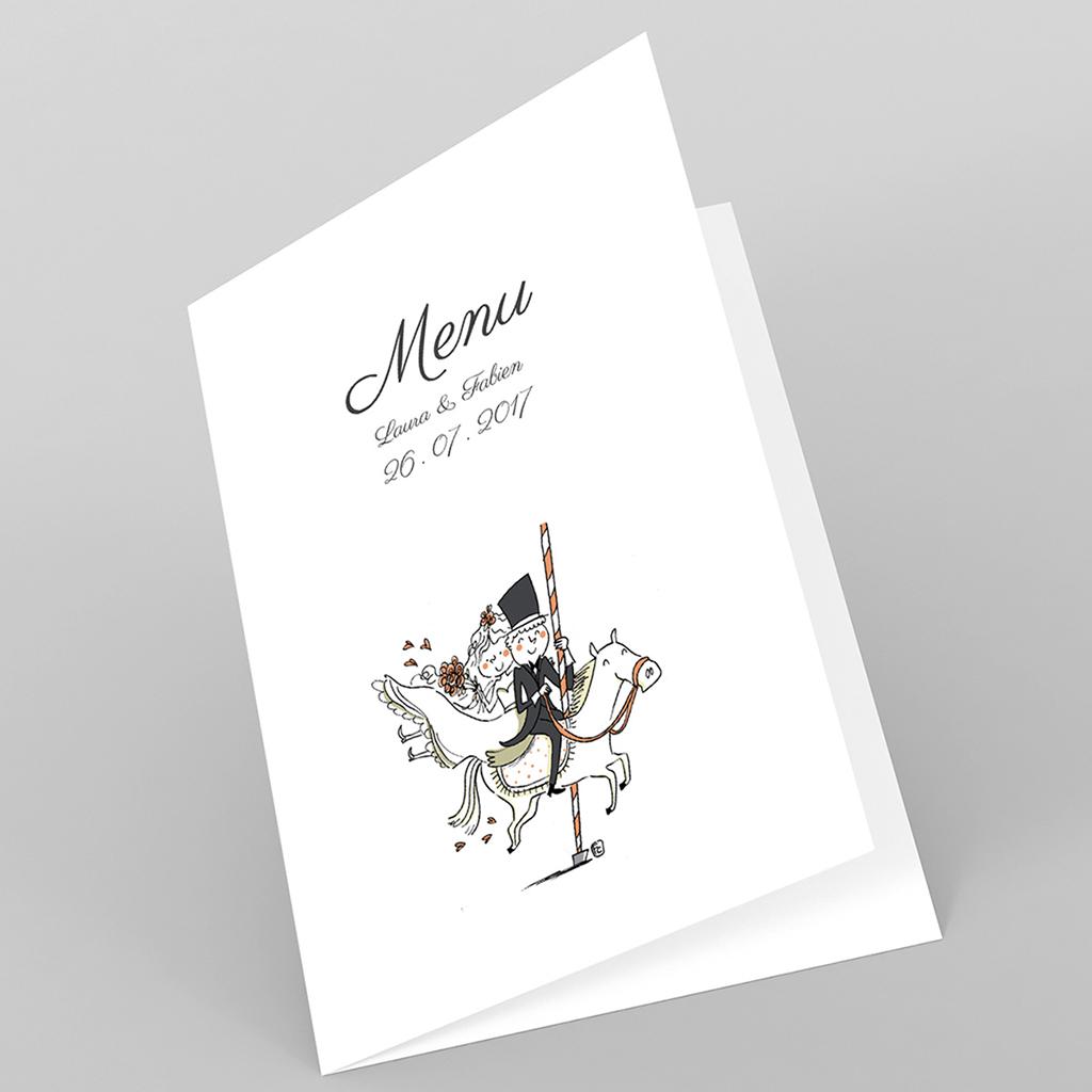 Menu mariage Manège