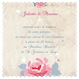 Carte d'invitation mariage Nostalgie  pas cher