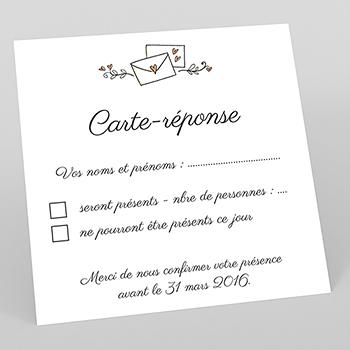 Carton réponse mariage Les Amoureux