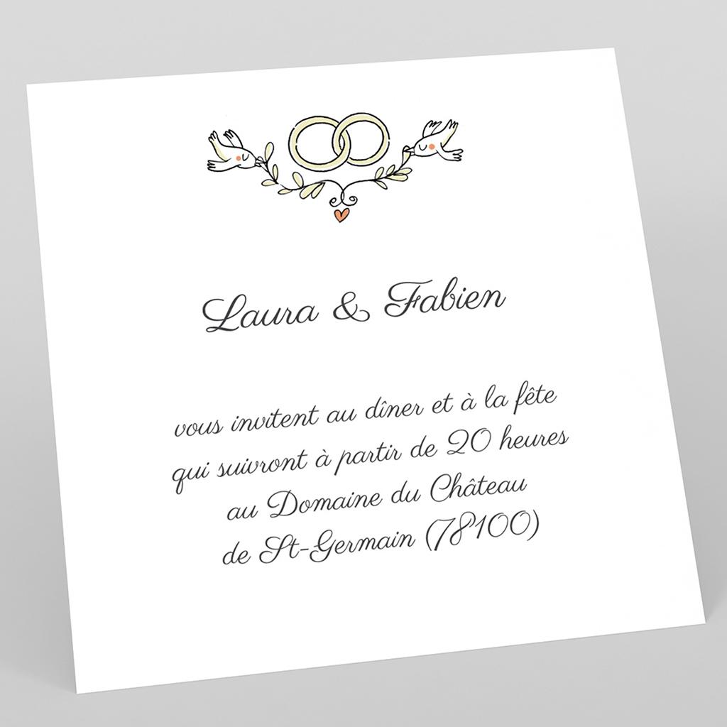 Carte d'invitation mariage Voiture des Mariés