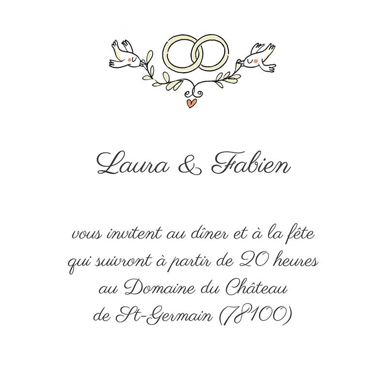 Carte d'invitation mariage Voiture des Mariés pas cher