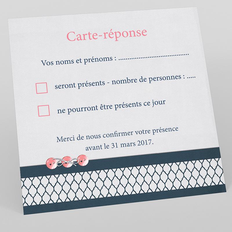Carton réponse mariage Fleuri Chic
