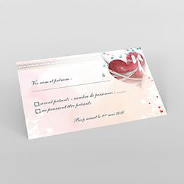 Carton réponse mariage Sensibilis