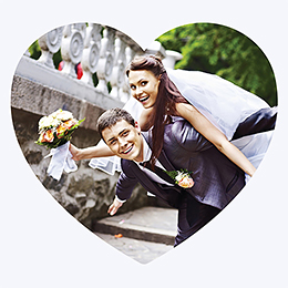 Carte de remerciement mariage Sensibilis coeur gratuit
