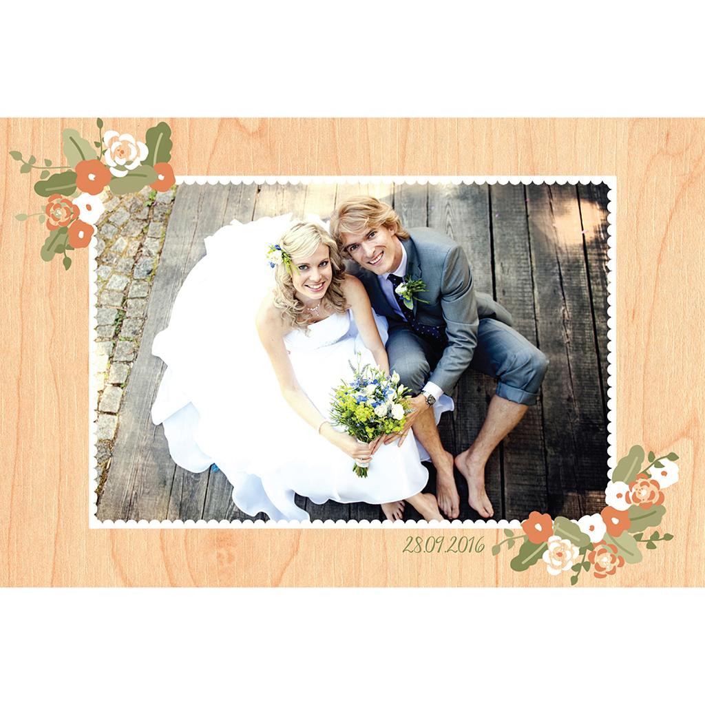 Carte de remerciement mariage Authentique  gratuit