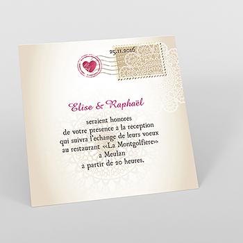 Carte d'invitation mariage Montgolfière
