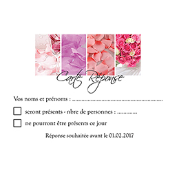 Carton réponse mariage Panoramique photos vierges pas cher
