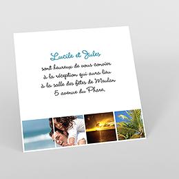 Carte d'invitation mariage Rectangle photos vierges