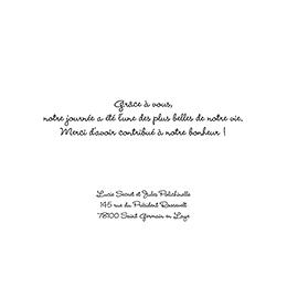 Carte de remerciement mariage Rectangle photos vierges gratuit