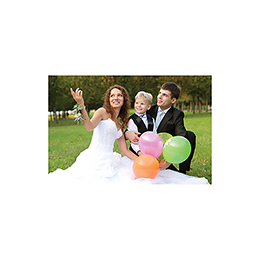 Carte de remerciement mariage Pano simple photos vierges gratuit