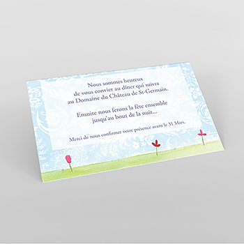 Carte d'invitation mariage Getting married
