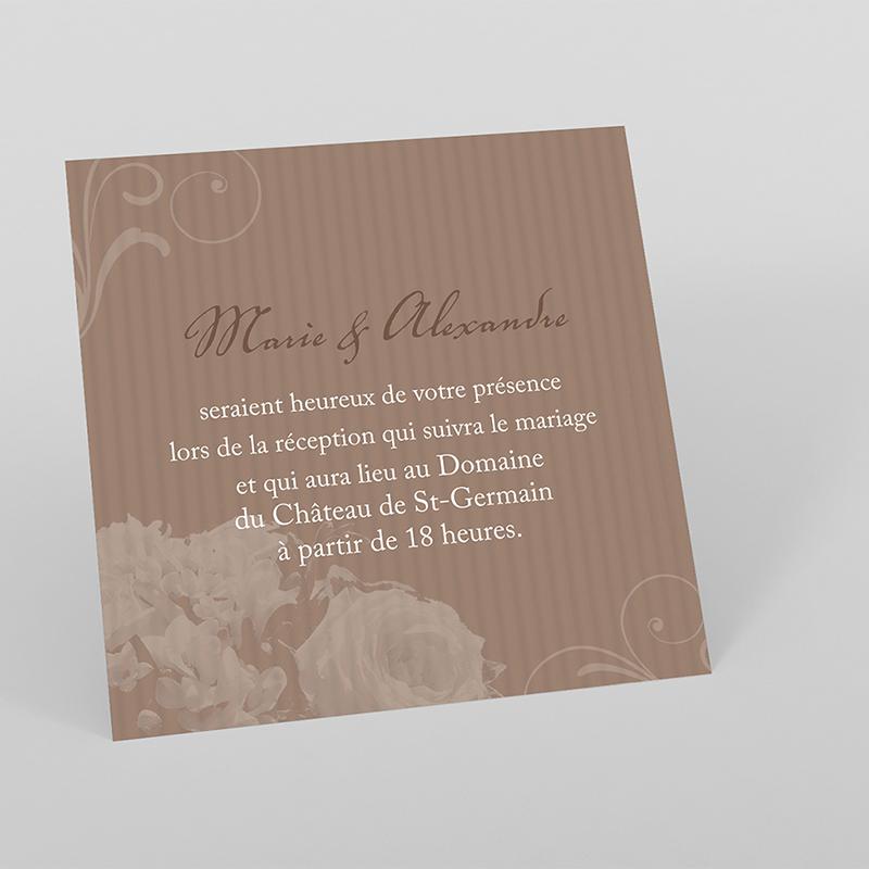 Carte d'invitation mariage Bouquet