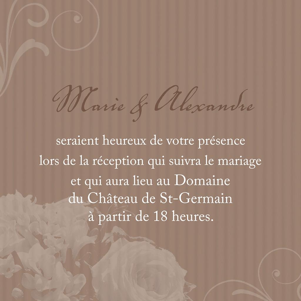 Carte d'invitation mariage Bouquet  pas cher
