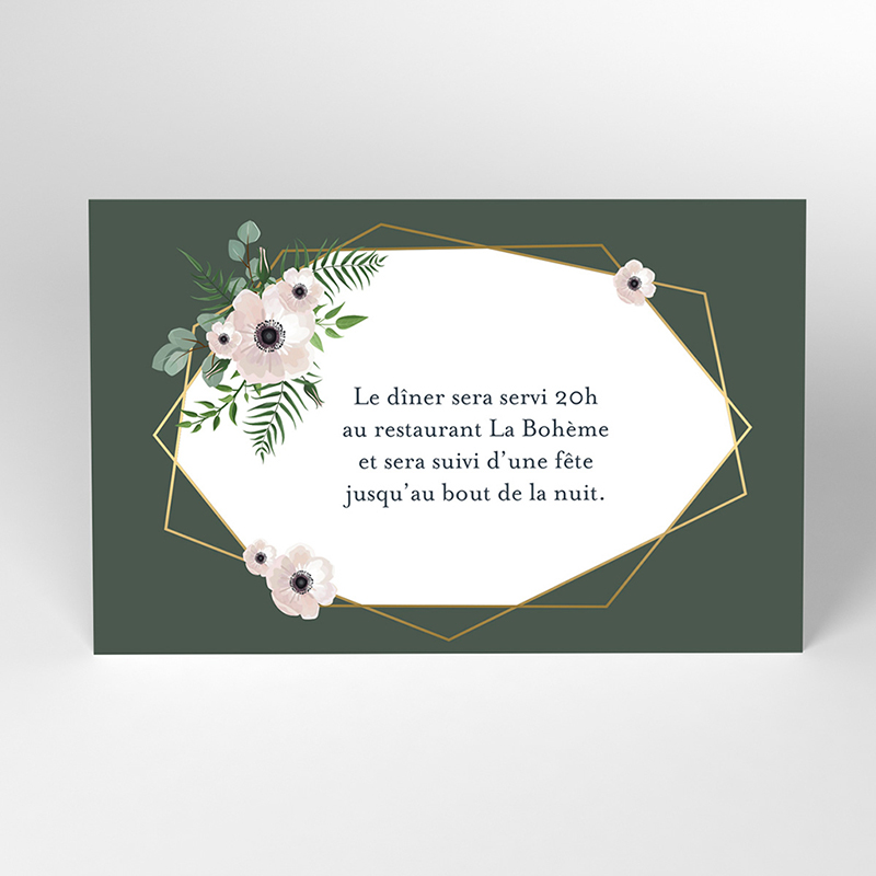 Carte d'invitation mariage Woody