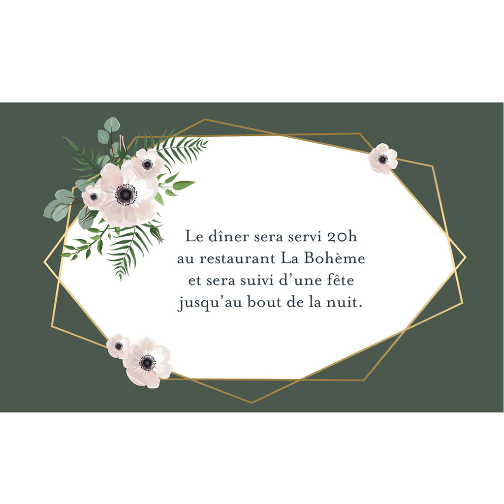 Carte d'invitation mariage Woody pas cher
