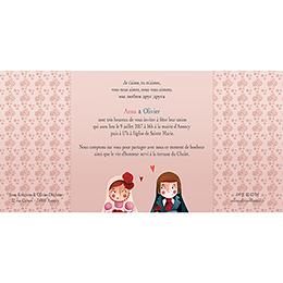 Faire-part de mariage Matriochkas  gratuit
