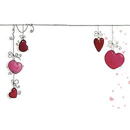 Faire-part de mariage Les Coeurs  gratuit