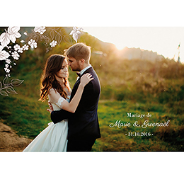 Carte de remerciement mariage Elégance pas cher