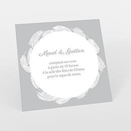 Carte d'invitation mariage Plume