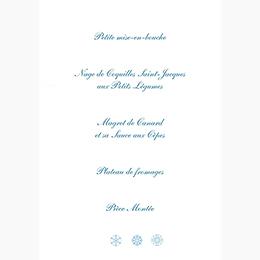 Menu mariage Mariage en hiver